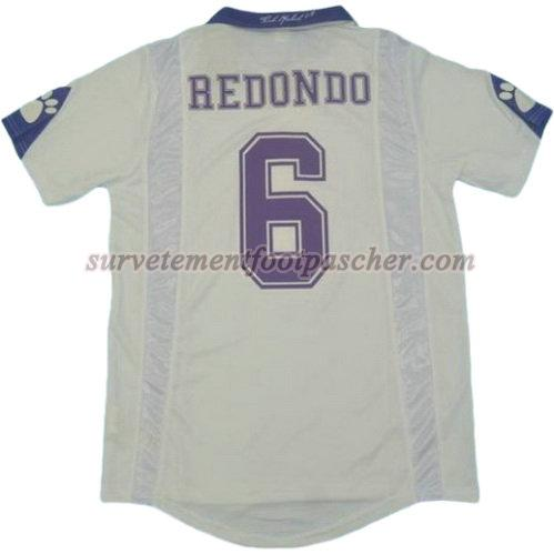 domicile maillot de real madrid 1997-1998 redondo 6 homme - blanc