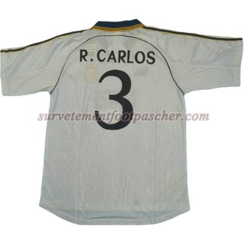 domicile maillot de real madrid 1999-2000 r.carlos 3 homme - blanc