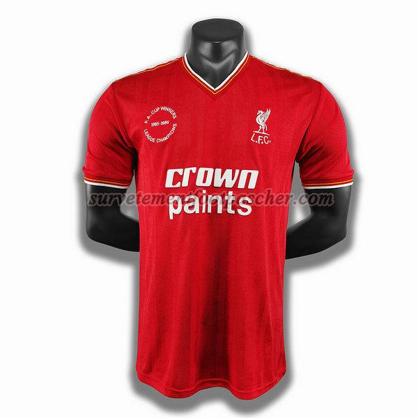 domicile player maillot de liverpool 1985 1986 homme -