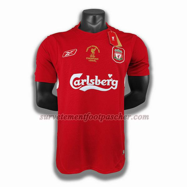 domicile player maillot de liverpool 2005 homme -