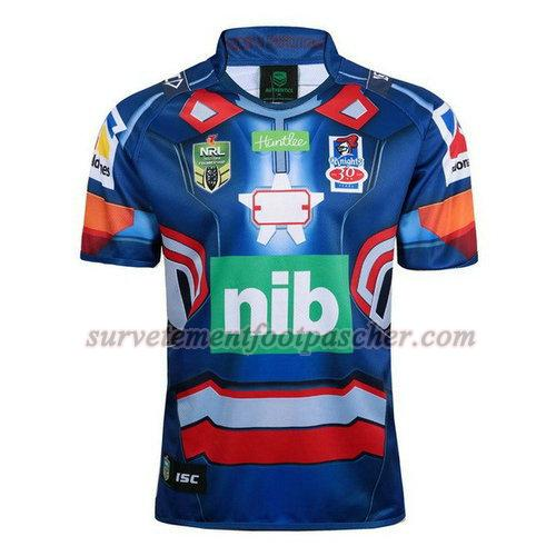 maillot rugby de newcastle knights 2017-2018 homme - bleu