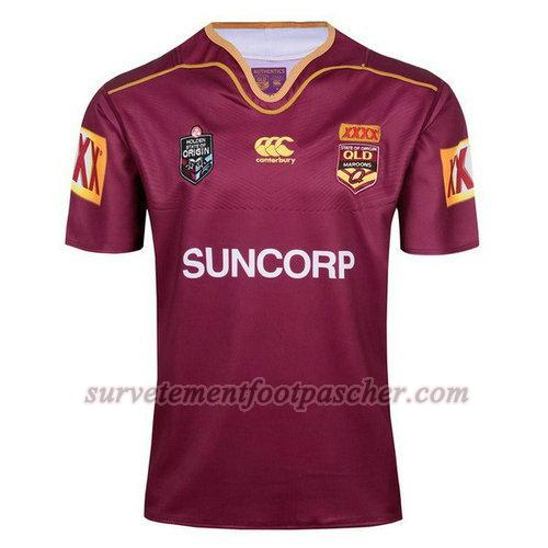 maillot rugby de qld maroons 2017-2018 homme - rouge