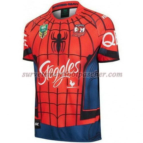 maillot rugby de sydney roosters 2017-2018 homme - rouge