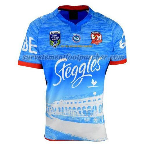 maillot rugby de sydney roosters 2017 homme - bleu